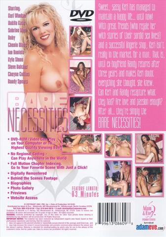 Bare Necessities from Adam & Eve back cover