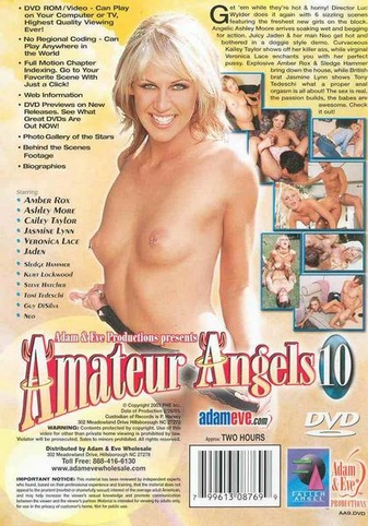 Amateur Angels 10 from Adam & Eve back cover