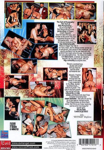 Miss Erotica from Evil Angel: Rocco Siffredi back cover