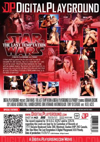 Star Wars The Last Temptation from Digital Playground back cover