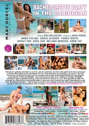 Bachelorette Party In The Caribbean from Marc Dorcel back cover