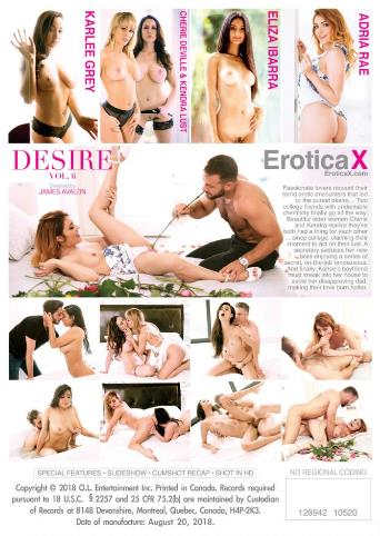 Pure Desire 6 from Erotica X back cover