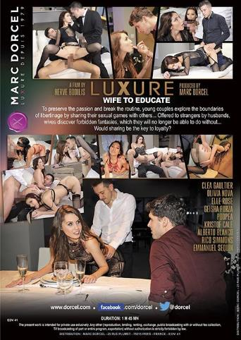 Luxure Wife To Educate from Marc Dorcel back cover