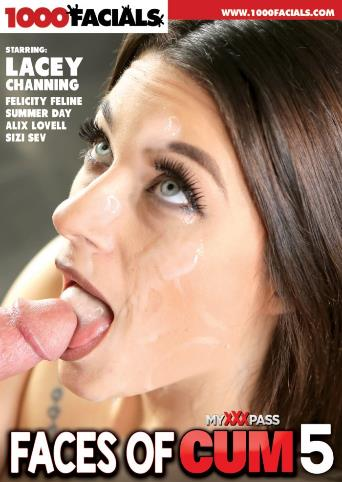 Faces Of Cum 5 from 1000 Facials front cover