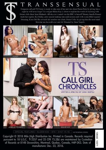 Ts Call Girl Chronicles from Transsensual back cover